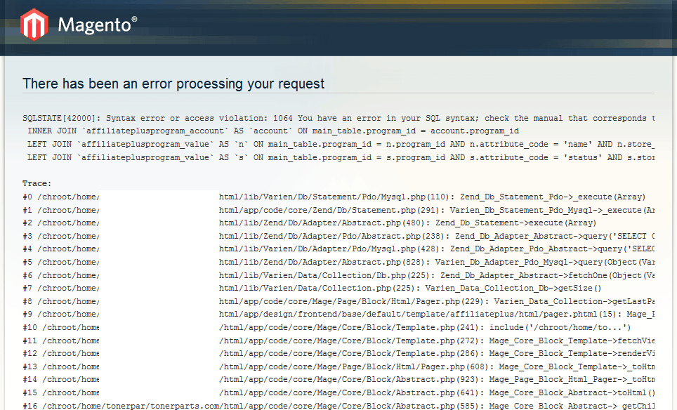Magento Vulnerability AffiliatePlus