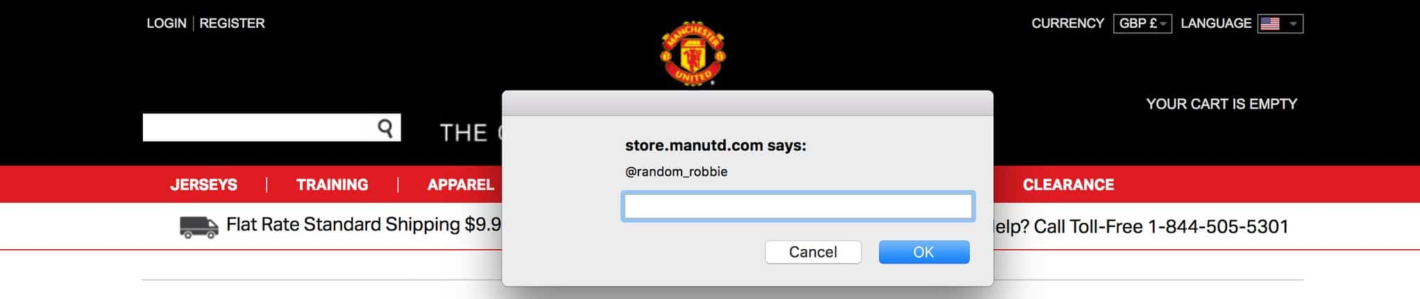 Manchester United XSS