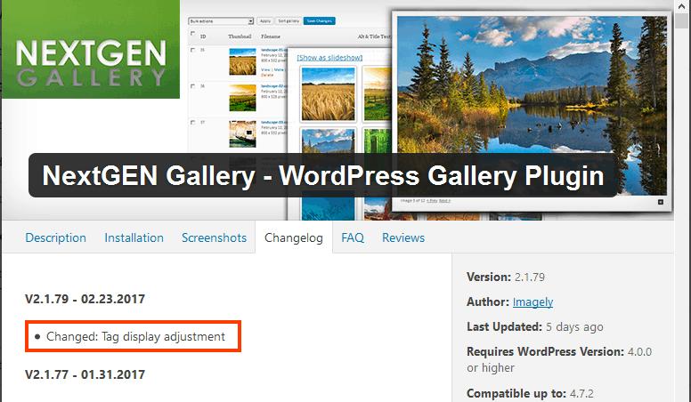 NextGEN Gallery WordPress Plugin Vulnerability