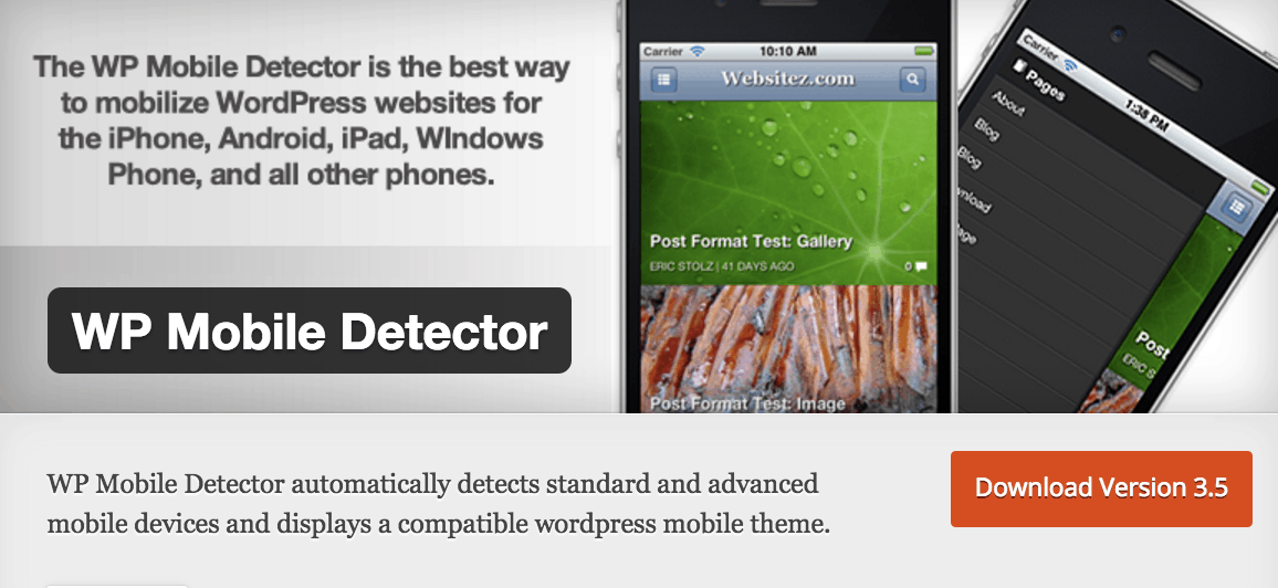 WP Mobile Detector Vulnerability