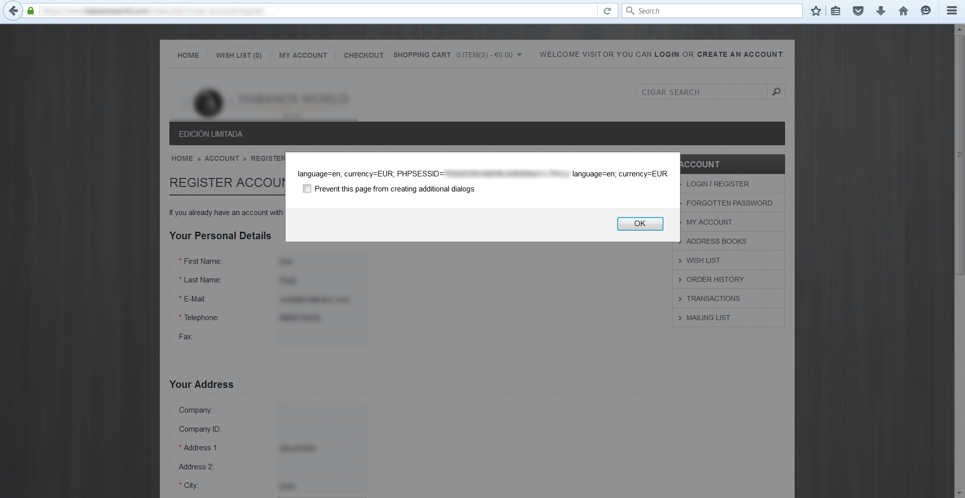 XSS in OpenCart zone_id parameter