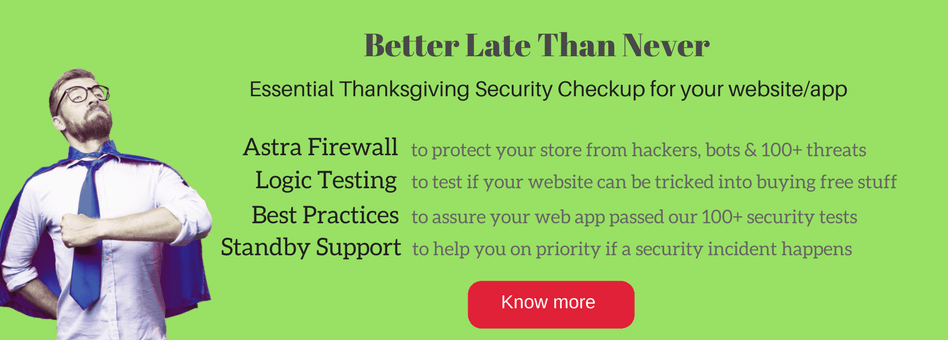Securing website on blackfriday cybermonday