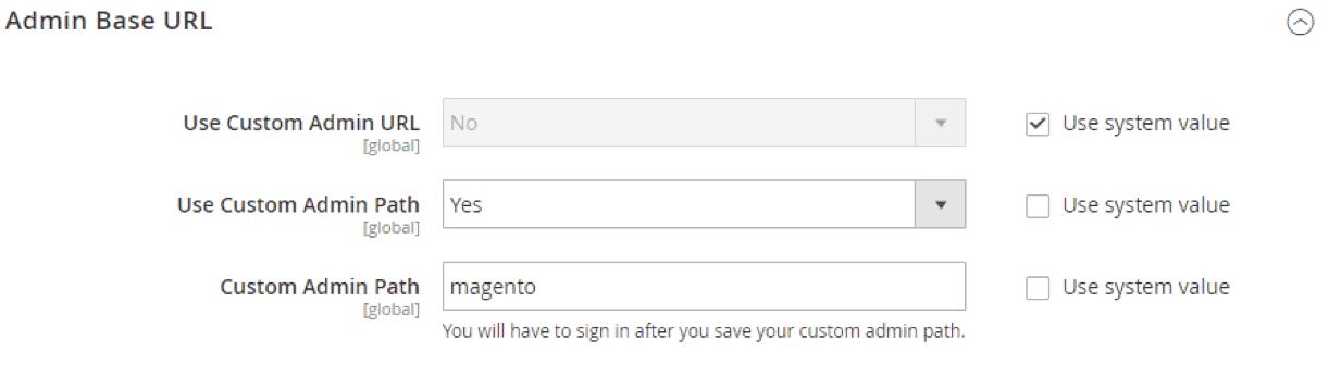 secure magento2 admin