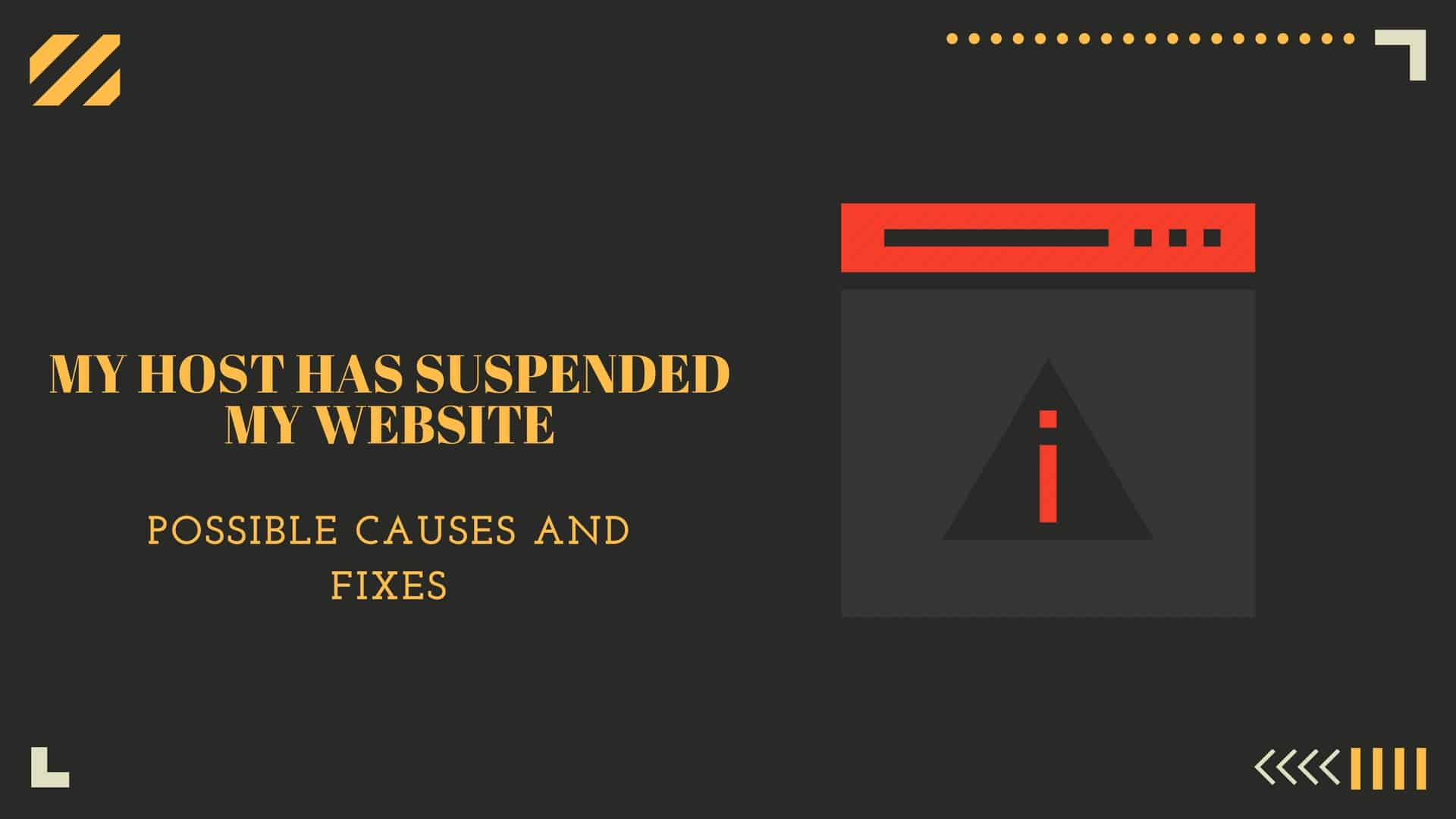 Should I Suspend My Blog To Go And Help >> How To Resolve Your Account Has Been Suspended Malware Other