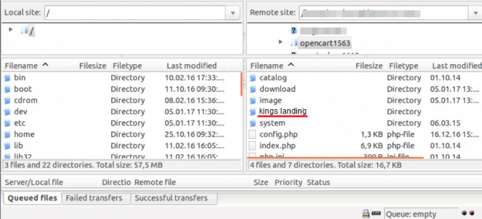 OpenCart admin security