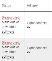 Google Ads suspended