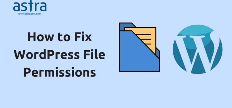 Wordpress file permission
