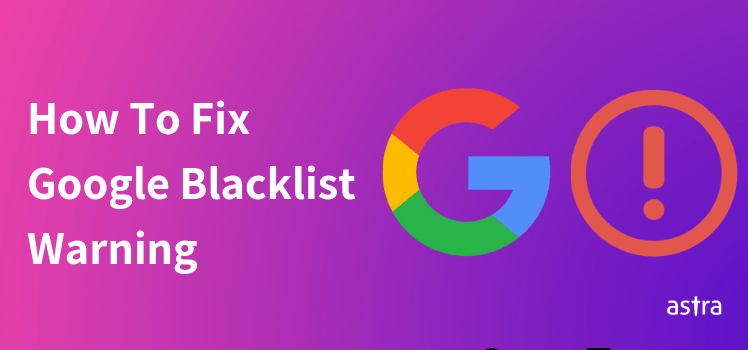 Google blacklist messages