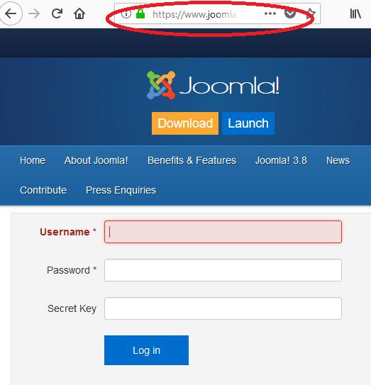 Joomla hack phishing exaple