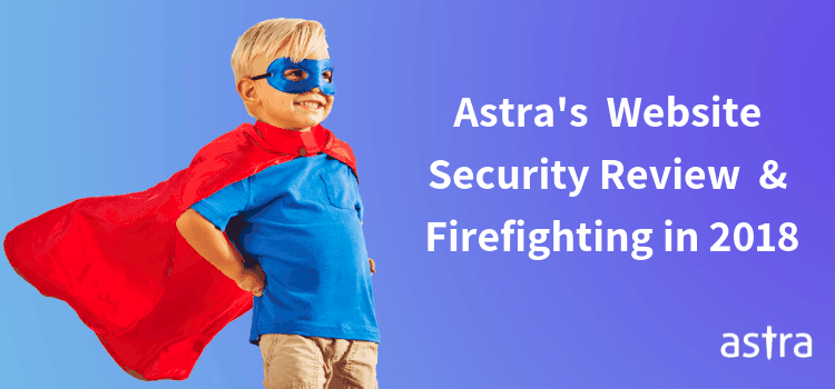 Astra Security: Years' Review of Website Security & Firefighting