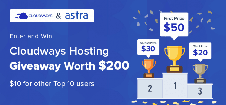 Cloudways Hosting Giveaway Worth $200. Participate and Win!