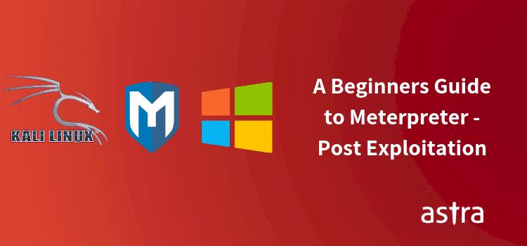 Meterpreter Commands - Post Exploitation