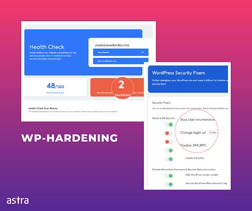 WP Hardening plugin