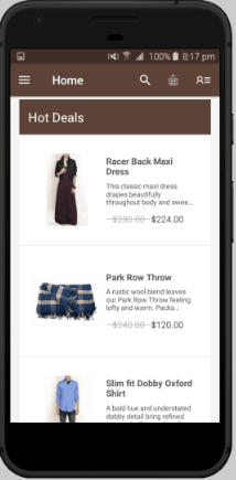 Magento in mobile phone