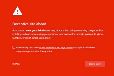 magento hacked sending spam warning page