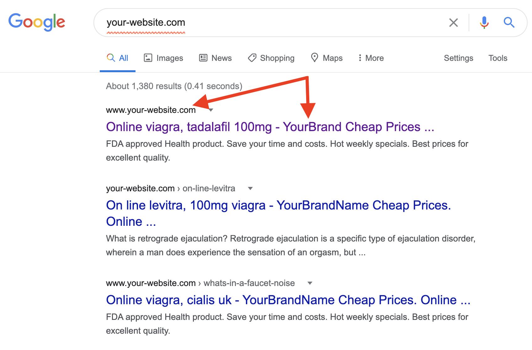 WordPress Pharma Hack - Viagara links on my search results.