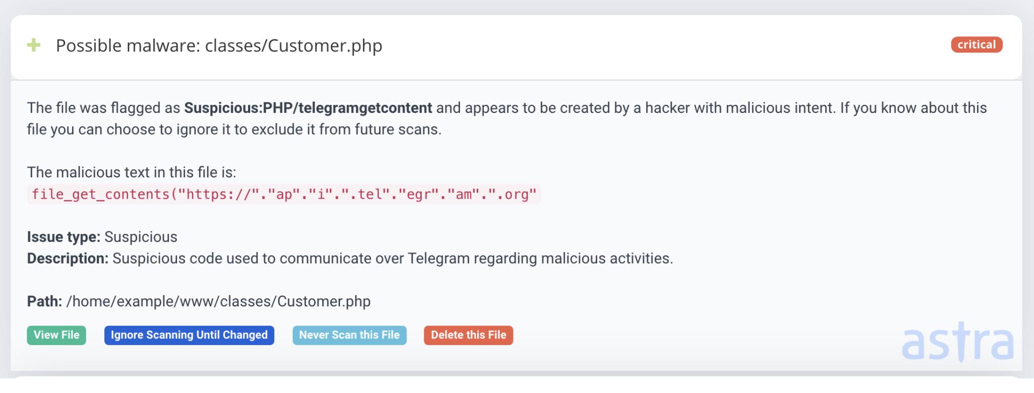 Telegram Malware campaign